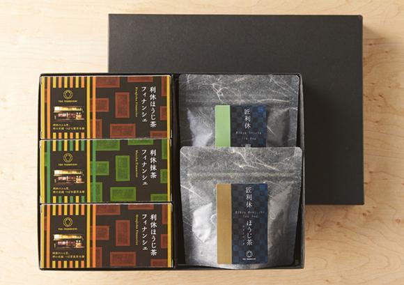 利休のお茶とフィナンシェ詰合せ(株式会社つぼ市製茶本舗)- 老舗茶舗の茶師がこだわって作りました