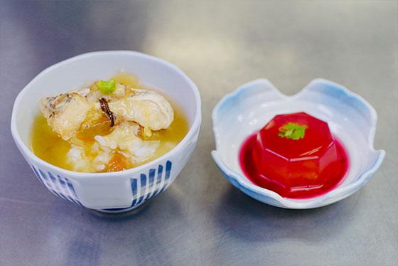 お店で出す本物の味「鯛茶寒天&トマト寒天」